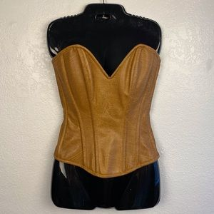 Daisy Corsets western faux leather zip up corset
